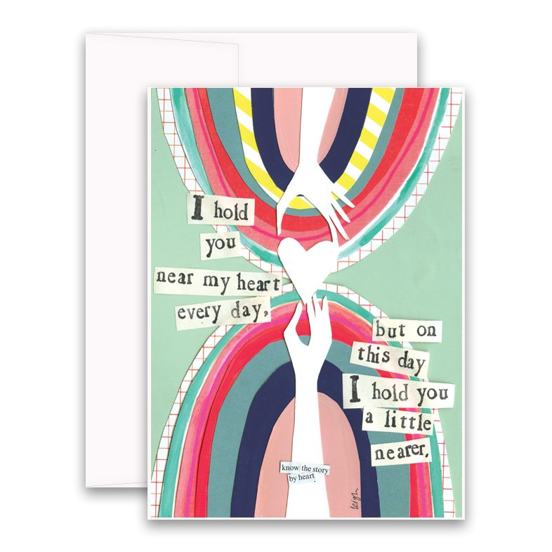 Greeting card A6 All love for you green