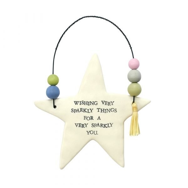 Best Wishes Inspirational Hanging Star
