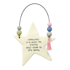 Decorative and Inspiration Ceramic Star