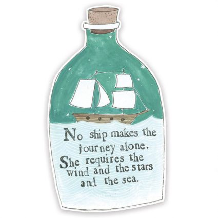 Message in a Bottle Magnet