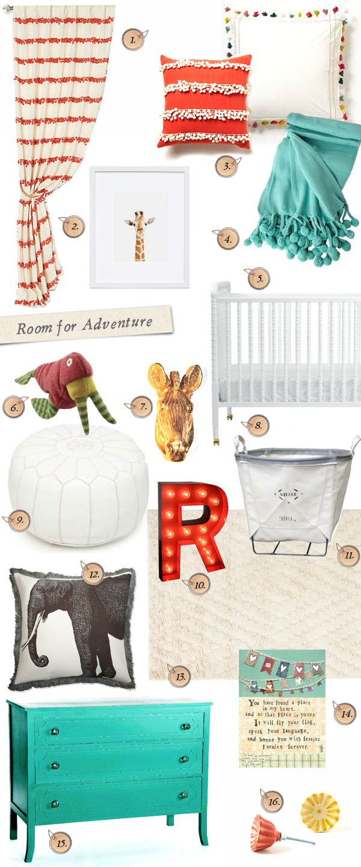 A room for adventure – Nursery styleboard